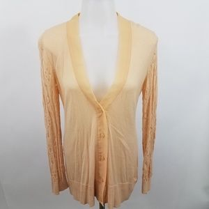 LC Lauren Conrad XS Cardigan Sweater Lace Crochet